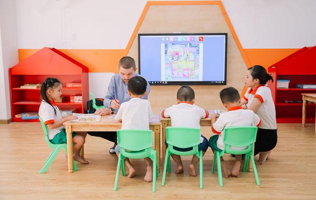 Trường mầm non ở Quận 7 Green Planet Kingdergarten đầy đủ trang thiết bị học tập.