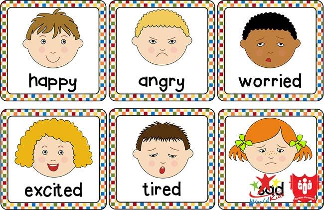 học tiếng anh cho trẻ 5 tuổi chủ đề cảm xúc