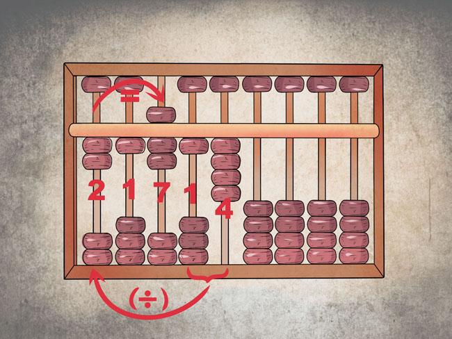 Một số ví dụ về cách tính số trong bàn phím Soroban