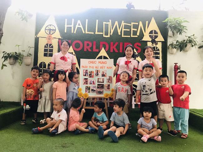 Trẻ thường xuyên tham gia các hoạt động vui chơi ngoại khóa tại trường mầm non Worldkids Gò Vấp
