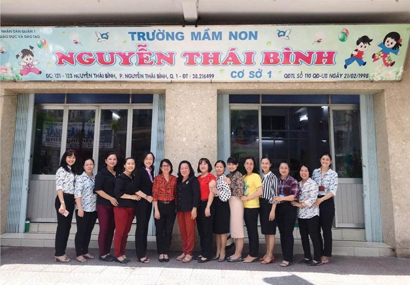 Trường mầm non Nguyễn Thái Bình có đội ngũ giáo viên chuẩn mực.