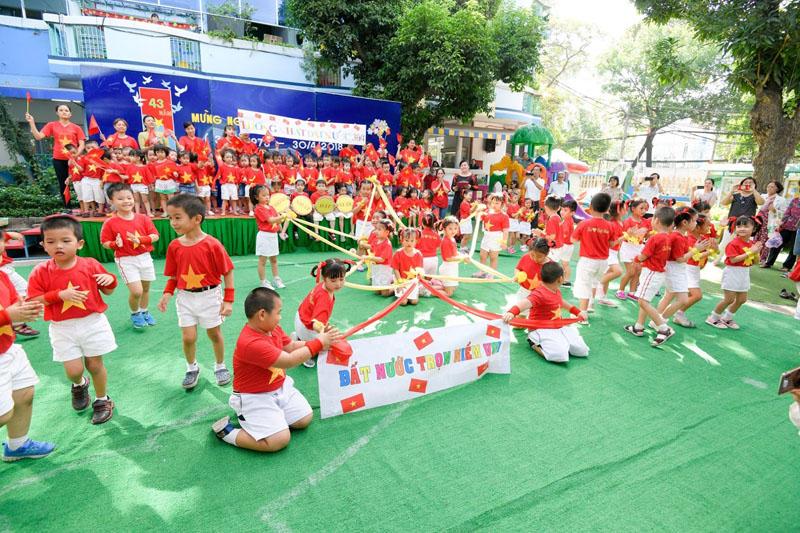 Trường Mầm non Thực Hành toạ lạc tại phường Đa Kao Quận 1