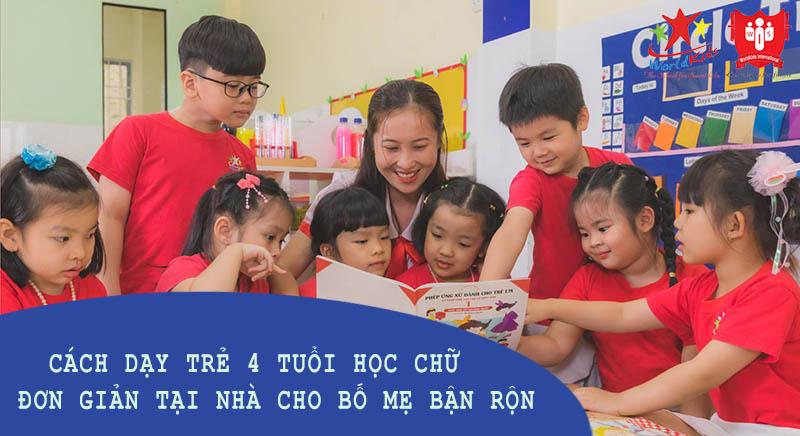 cách dạy trẻ 4 tuổi học chữ