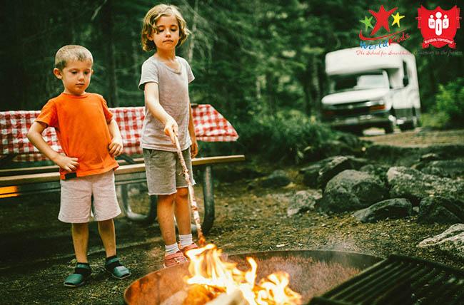 kỹ năng sinh tồn đốt lửa cho trẻ em