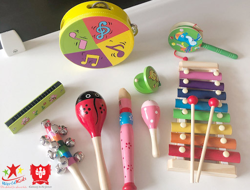 đồ chơi montessori mô phỏng nhạc cụ