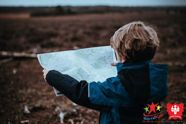 kỹ năng sinh tồn cho trẻ xem bản đồ
