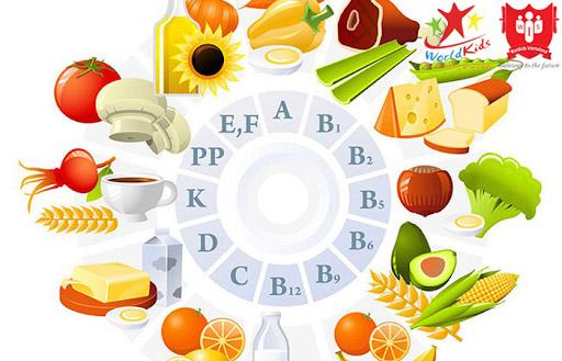 thực phẩm giàu vitamin cho trẻ em